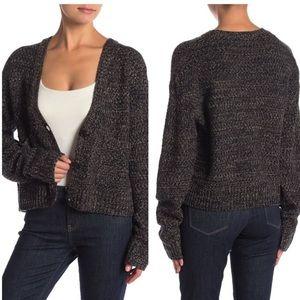 John + Jenn Grandpa Cardigan Sweater Crop Shale L